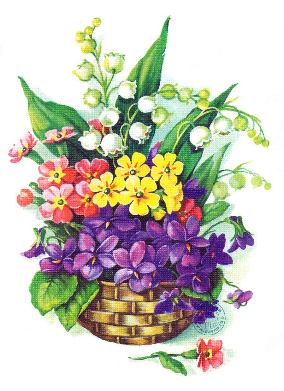 рисунки открытки с цветами
