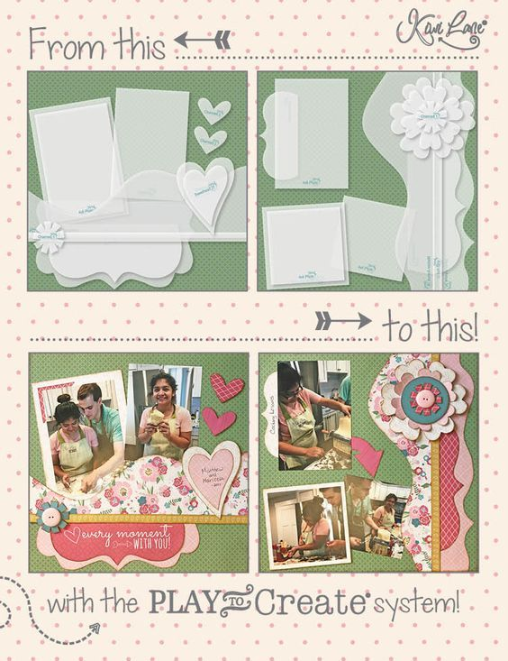 Blushing Love Layout Kit Limited Edition From This To That