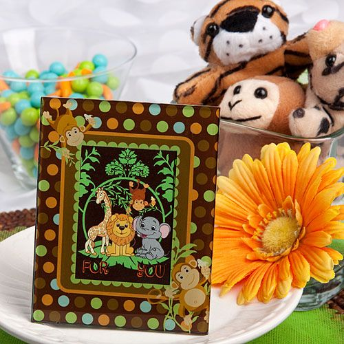 Jungle Animals Picture Frame Favors | Unique Baby Shower & Religious ...