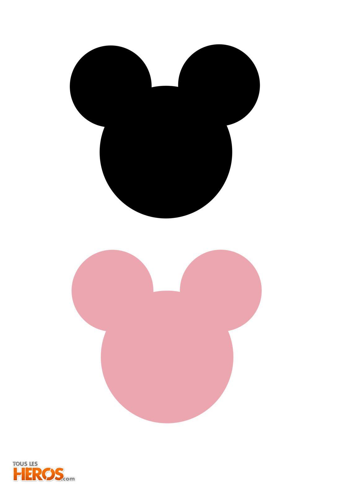 les têtes Mickey et minnie à imprimer pour faire des activités