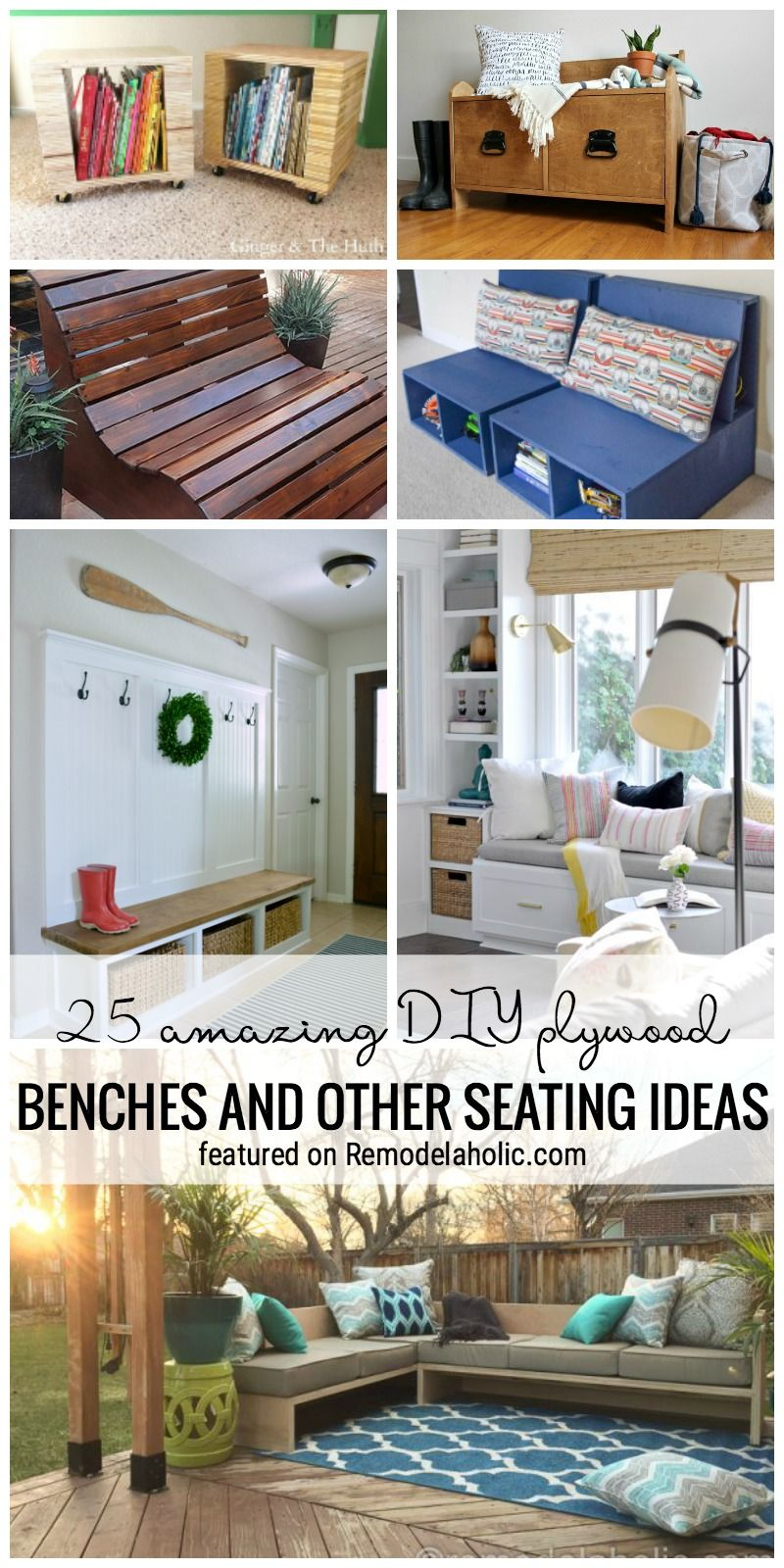 25 Amazing DIY Plywood Benches And Other Seating Ideas