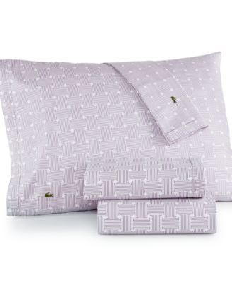 Lacoste Printed Cotton Percale Sheet Sets - Sheets - Bed & Bath - Macy's
