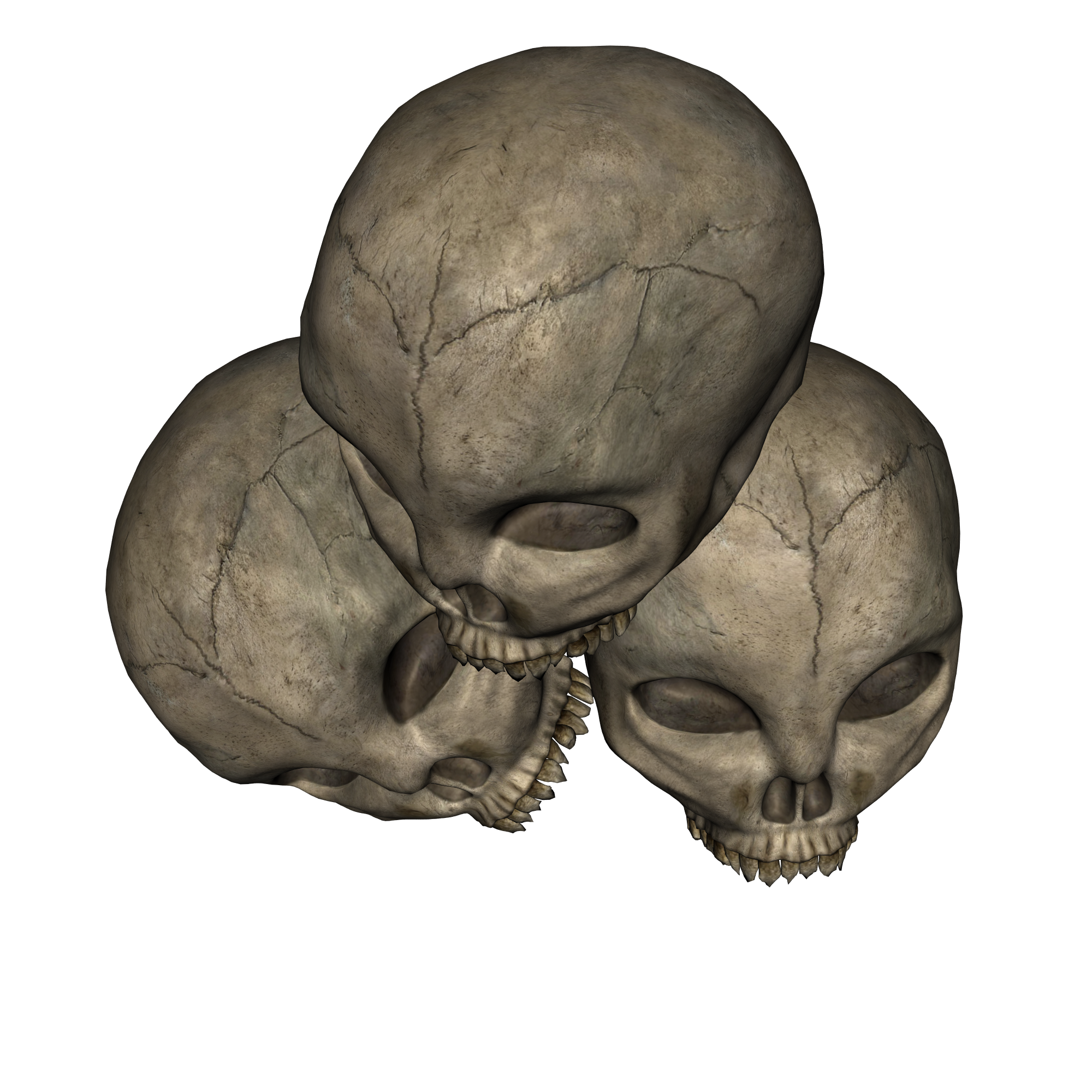 Skull Pile Top Side View Skull Miniature Gaming Sculpture