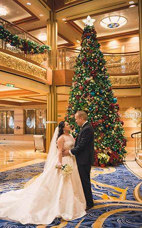 Holiday Cruise Wedding Spotlight: Charise and Jordan   Disney Weddings