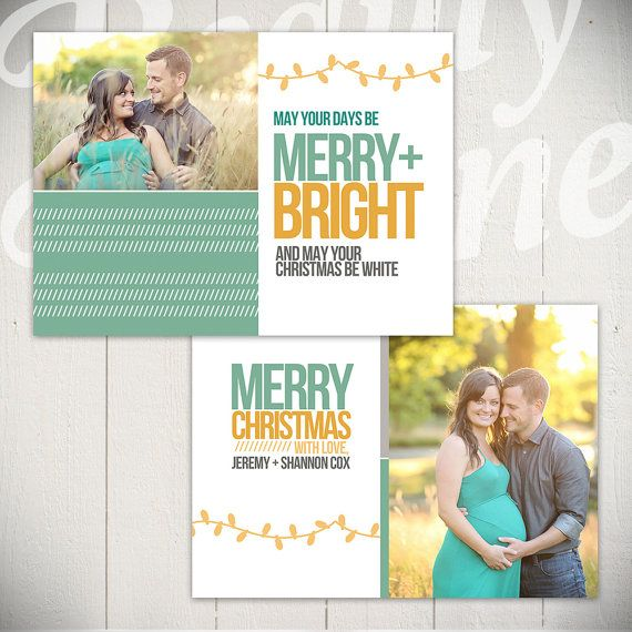Christmas Card Template Merry Bright B By Beautydivinedesign Christmas Card Template Holiday Card Template Holiday Cards