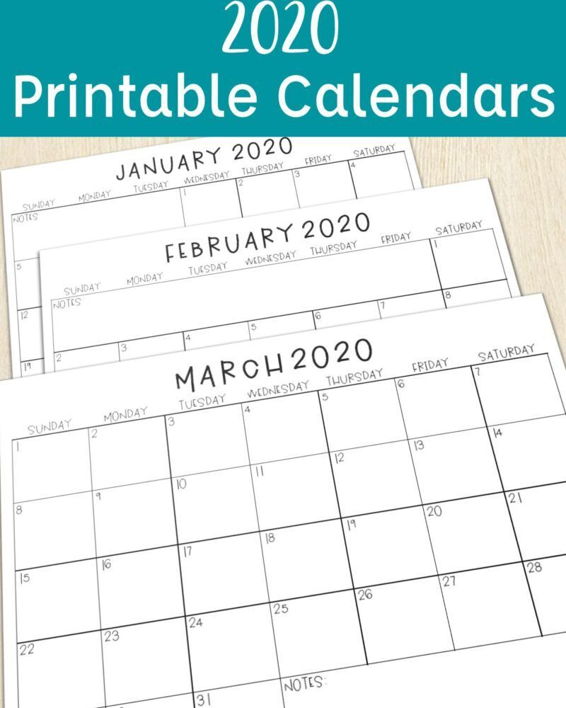 2020 Calendars For The Classroom Tales From Outside The Classroom Teacher Calendar Printables Kids Calendar Teacher Calendar
