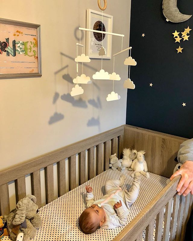 Beautiful Bonnie In Her Starry Nursery Can You Spot The Gold Foil Chart Decor