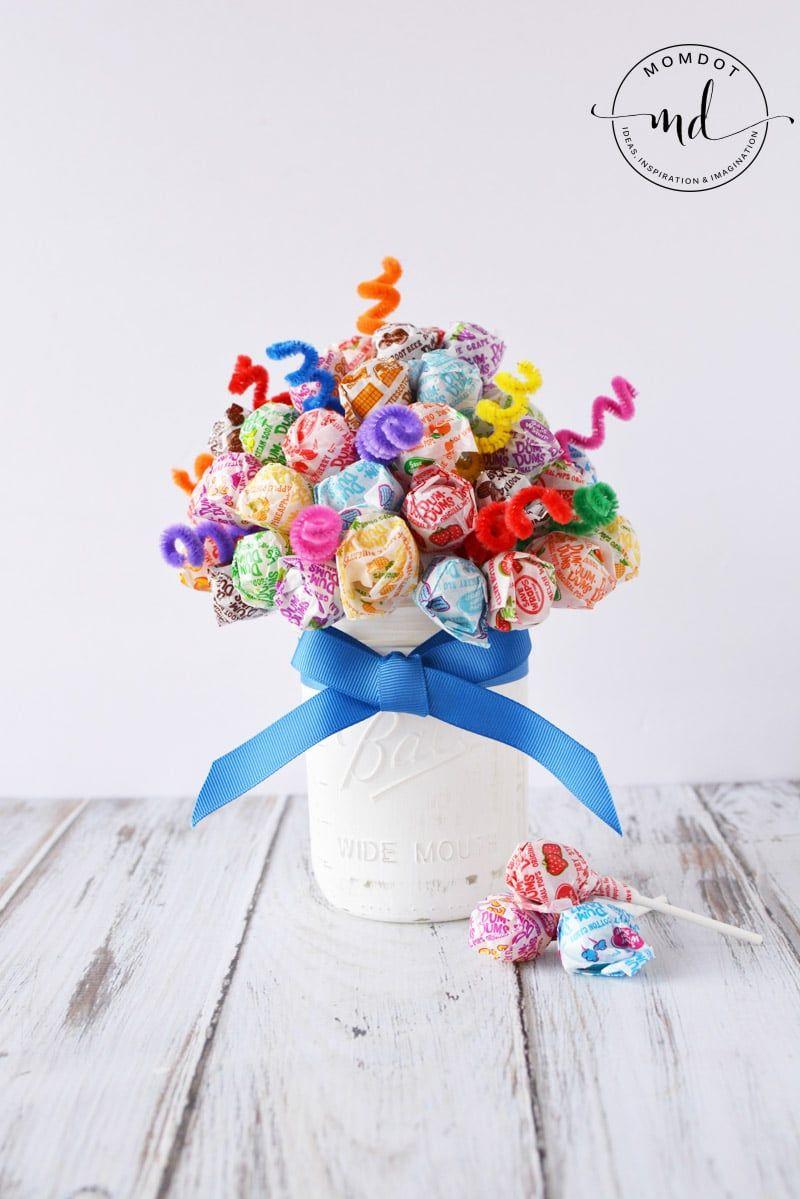 Candy Bouquet Lollipop Dum Sucker DIY Centerpiece - | Candy bouquet ...