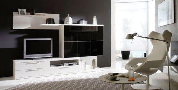 Mueble de comedor blanco y negro   Interiors   Pinterest   Blanco y ...