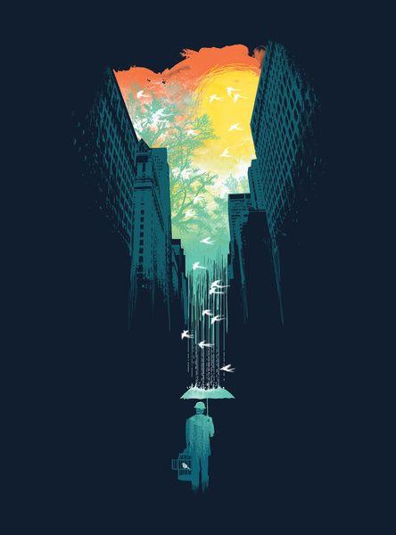 I Want My Blue Sky Art Print - Budi Satria Kwan
