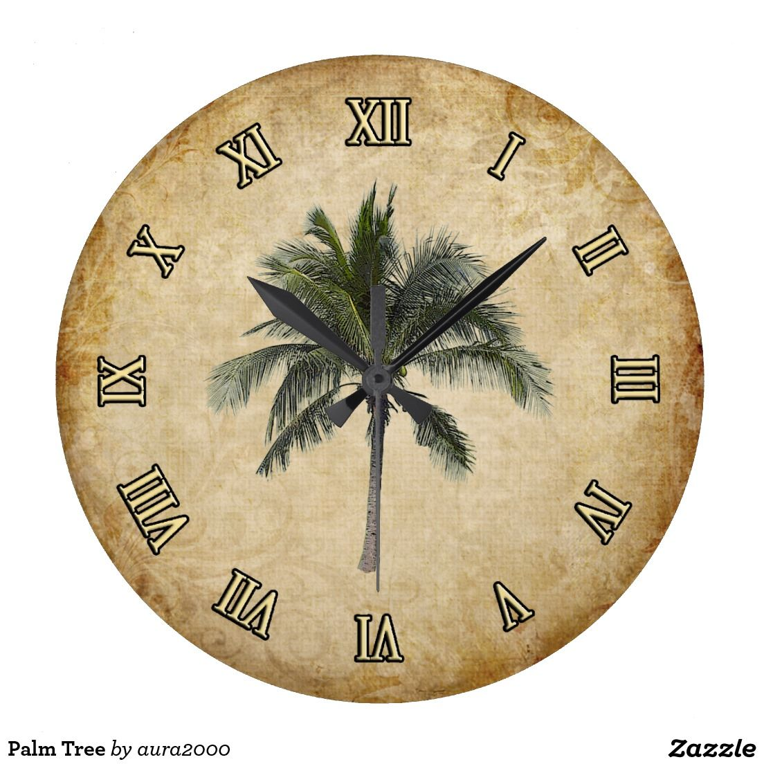 Palm Tree Clock | Stuff SOLD on Zazzle | Pinterest | Palm and Clocks