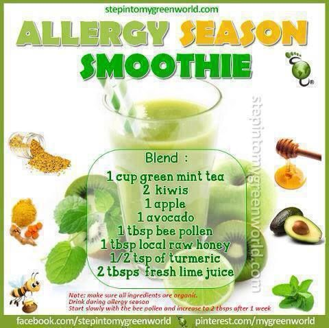 Allergy Season Smoothie