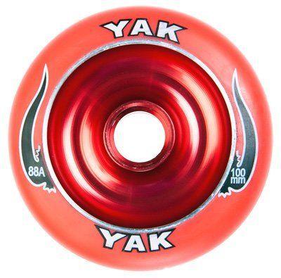 YAK Scat II Metal Core Wheel Red 100mm by YAK  $14 99  The