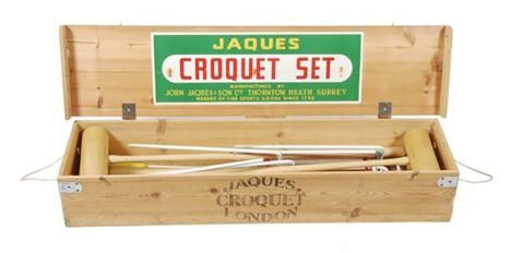 A Jaques & Sons Ltd. croquet set, in wooden carrying case and retailed by Lillywhites