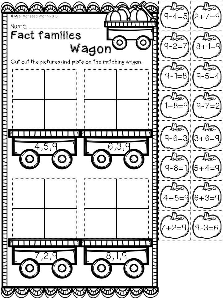 Download free printables at preview. Fact families. Fall