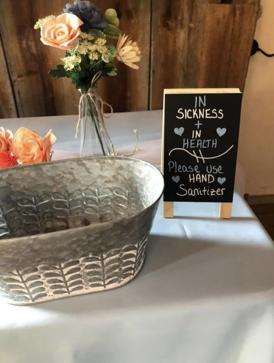 Hand sanitizer sign in 2020 Backyard bridal showers