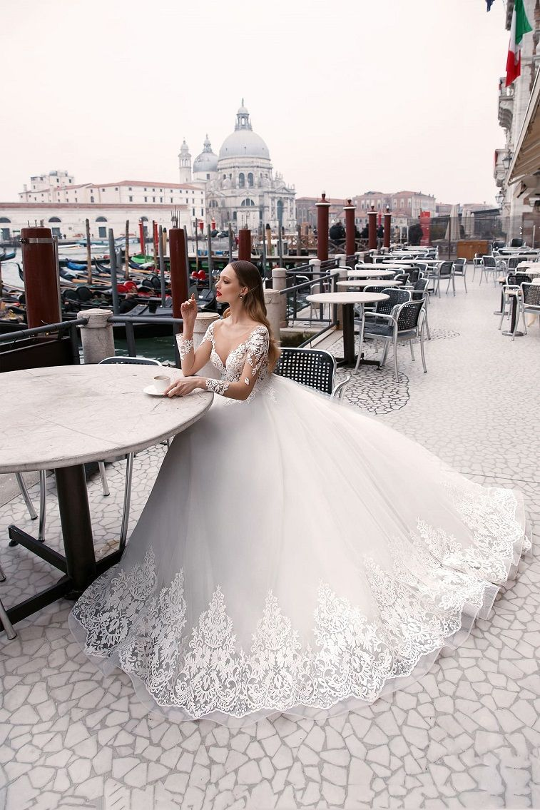 Anna Sposa Wedding Dresses - Venice Bridal Collection  long sleeves ball gown wedding dress #weddingdress wedding gown ,wedding dress