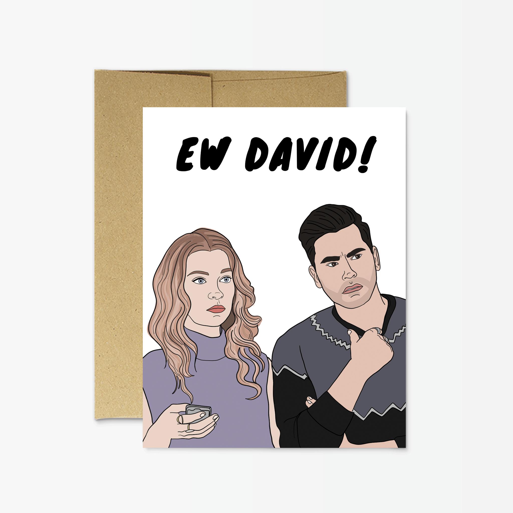 David Letterpress Card Ewww