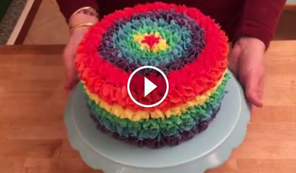 rainbow surprise pi ata m m cake pinata torte. Black Bedroom Furniture Sets. Home Design Ideas