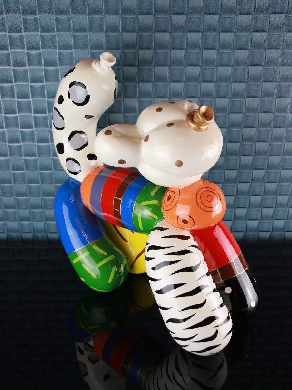 #SONDERPREIS# Hommage an Jeff Koons Balloon Cat Ballon Katze Skulptur UVP 179,-€