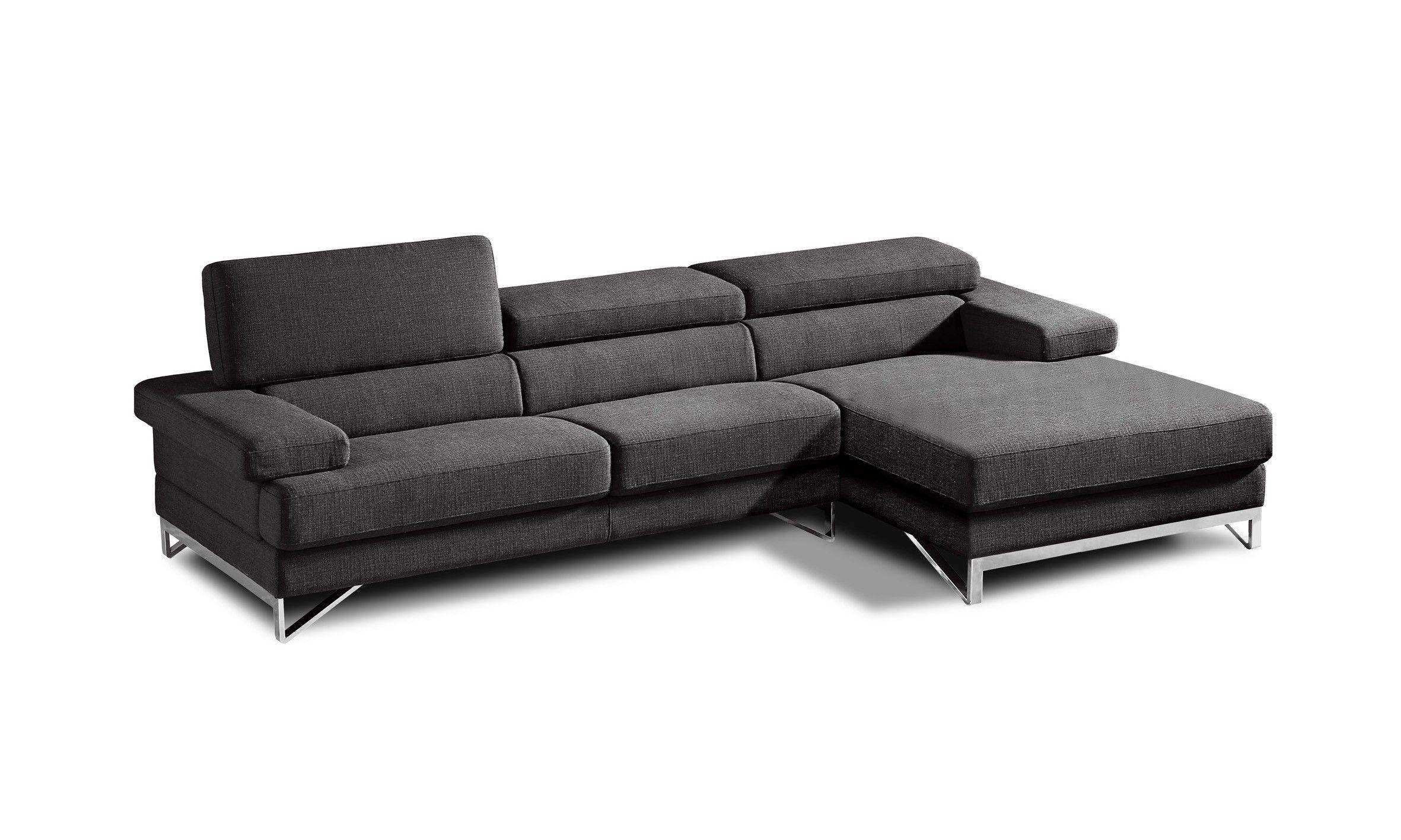 Coburn Modern Grey Fabric Sectional Sofa Modern Fabric Sectional