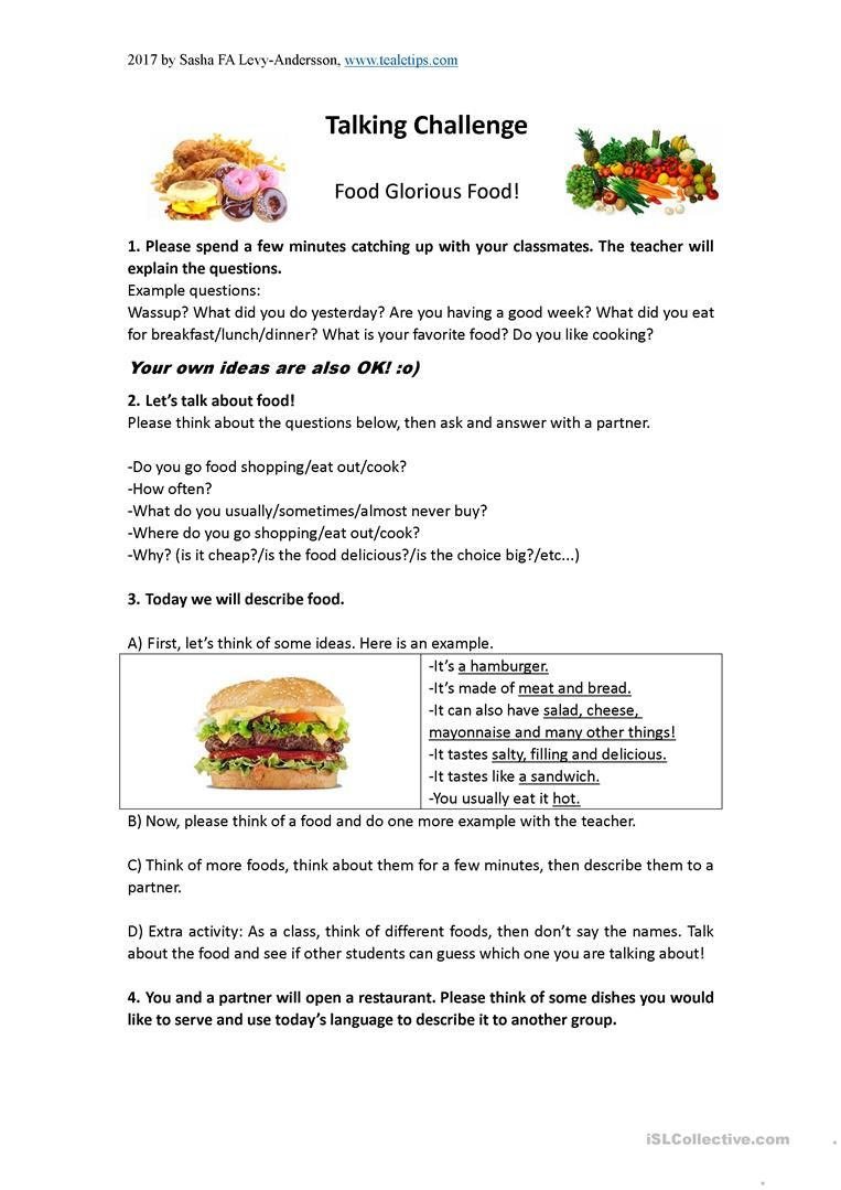 Discussion lesson about food worksheet free esl printable discussion lesson about food worksheet free esl printable worksheets made by teachers forumfinder Images