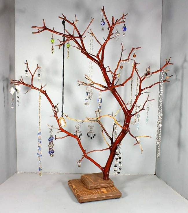 You Should Try To Do At Least One Of These Jewelry Stand Diy Handmade Jewelry Reuse Recycle Motivation Jewellery Storage Jewelry Tree Stand Jewelry Tree