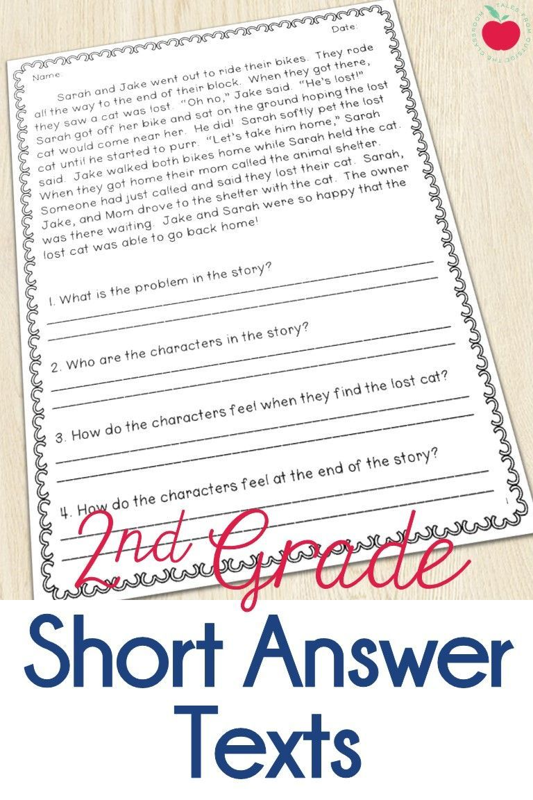 - Reading Comprehension With Open Ended Questions: 2nd Grade Restate