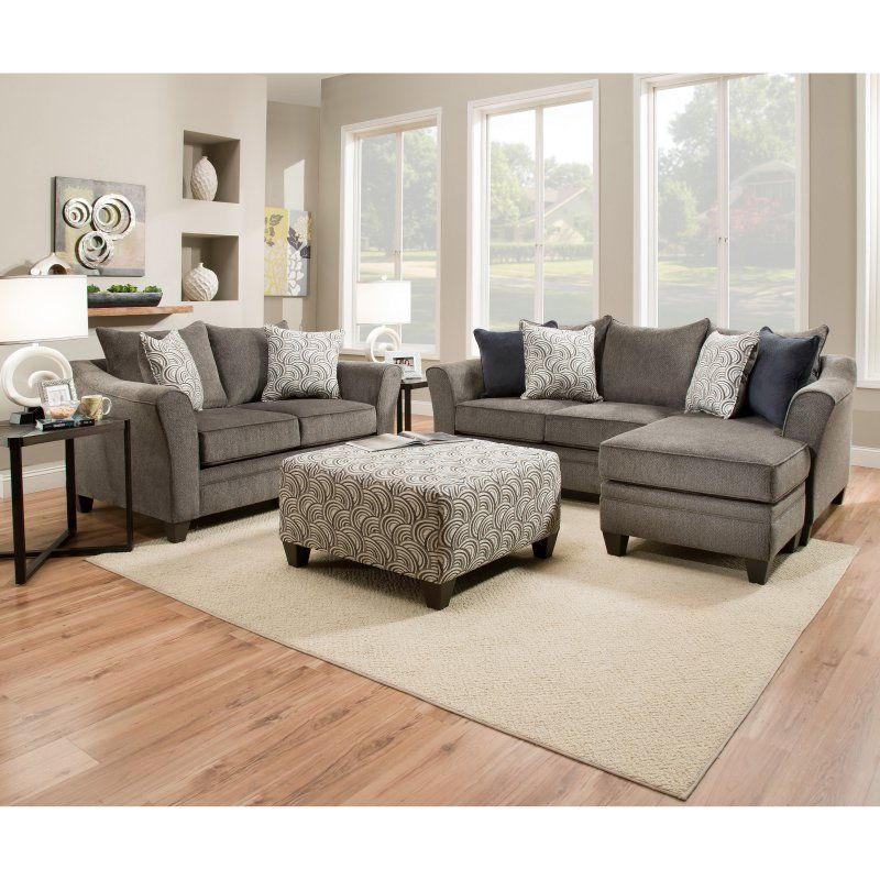 Simmons Upholstery Albany Sofa Chaise Living Room Sets