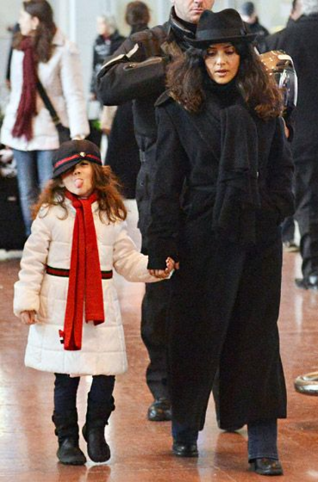 Salma Hayek and her daughter Valentina #celebrities #celebrities #kids