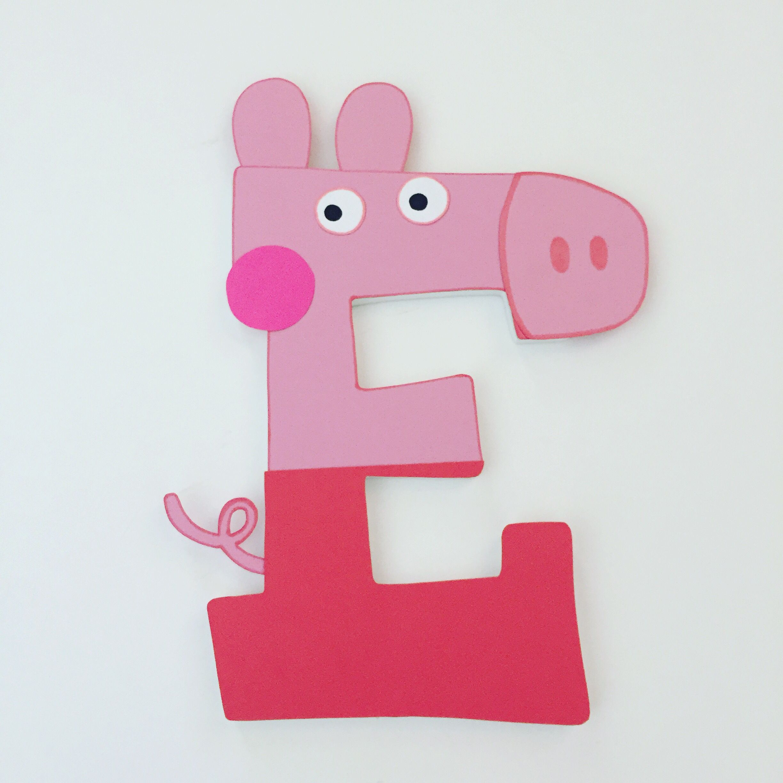 Peppa Pig Custom Wood Letters Wooden letters, Kid room