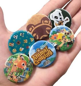Animal Crossing Pin Button Set New Horizons Nintendo Switch