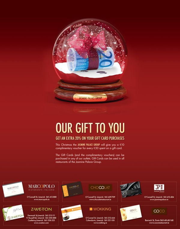 Print Advertisement For Gift Card Offer