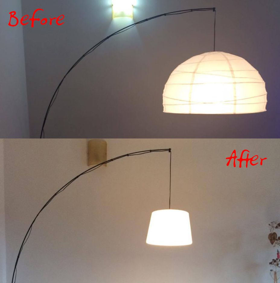 Ikea Hack Regolit Floor Lamp Before After