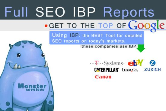 I will create full Seo Reports for 2 websites using IBP for $5