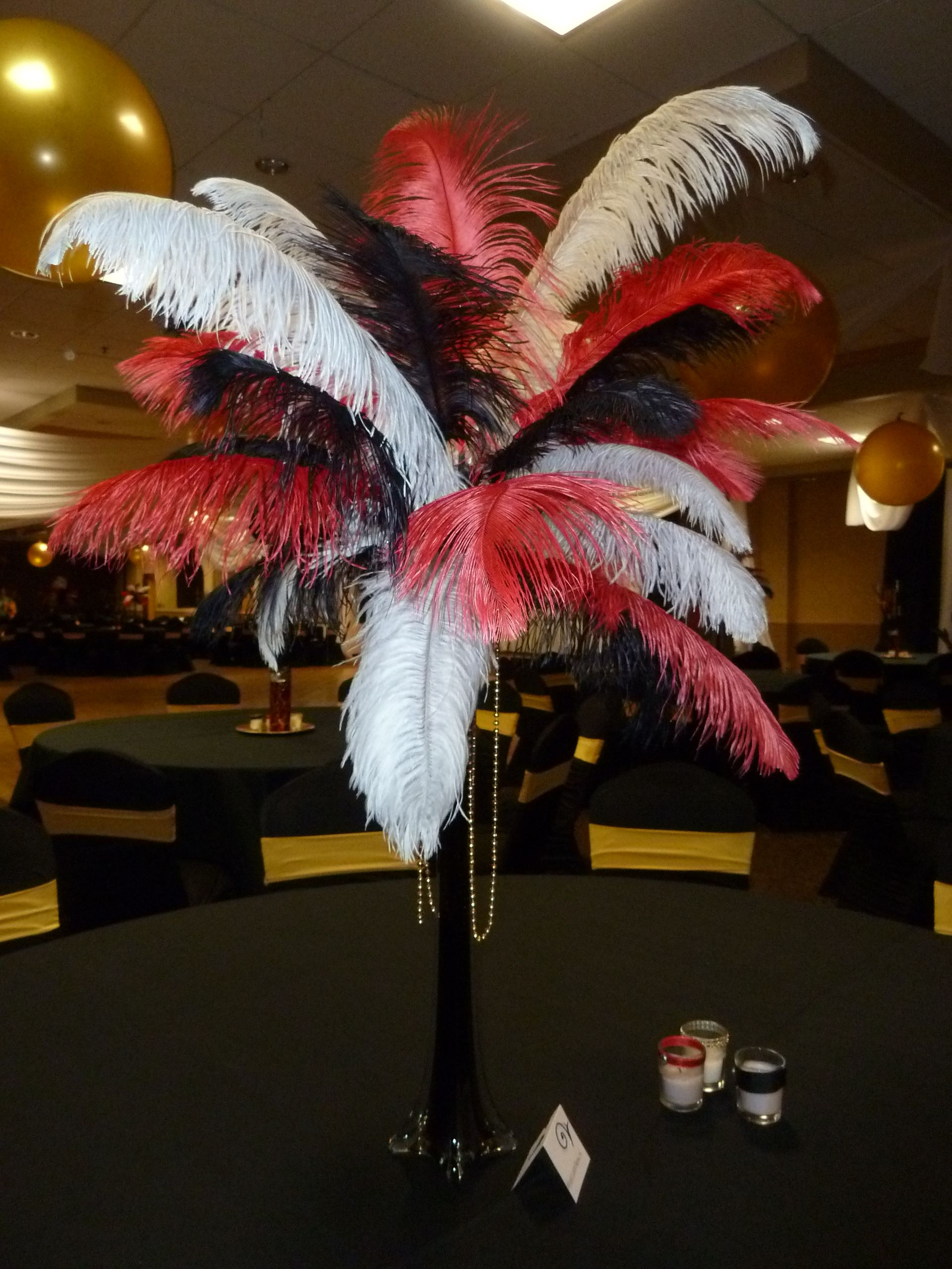 Feather Arrangement for The Great Gatsby Feather