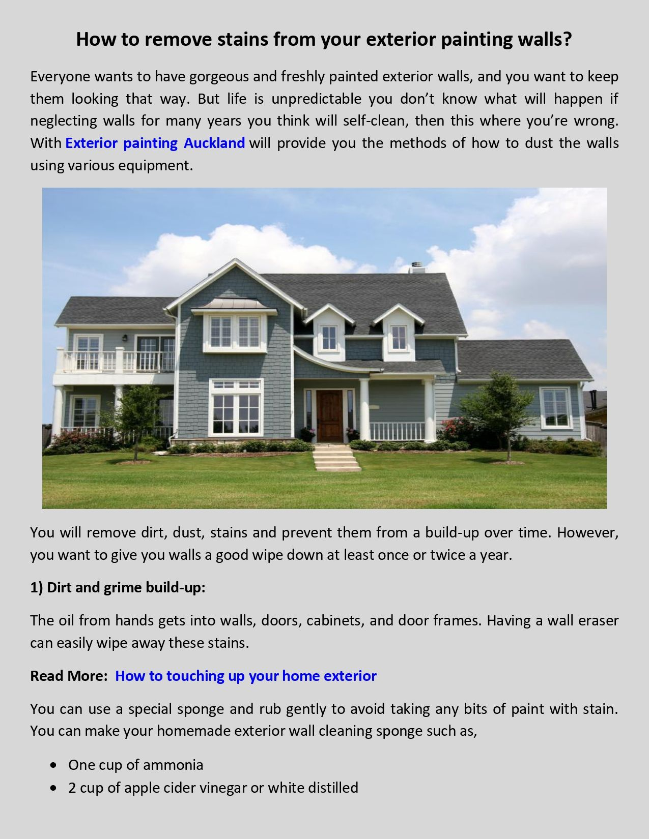 Remove Stain From Your Exterior Wall Exterior Paint Stain Remover Exterior