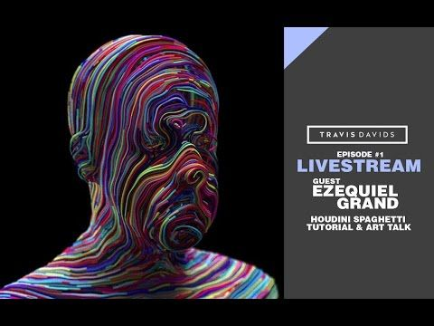 Livestream #1 with Ezequiel Grand - Houdini Spaghetti Tutorial & Art Talk - YouTube