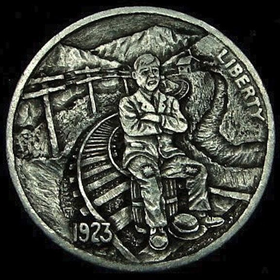 HOWARD THOMAS HOBO NICKEL: NOT GONNA MISS THIS TRAIN