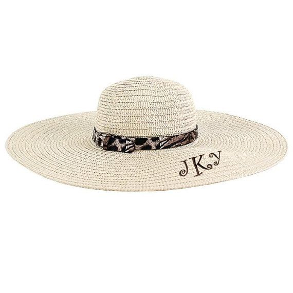 Monogrammable Floppy Hat with Cheetah Band e8972c8cf09