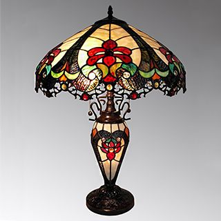 Nicole 3 Light Tiffany Style 16 Inch Double Lit Table Lamp Tiffany Style Lamp Tiffany Style Table Lamps