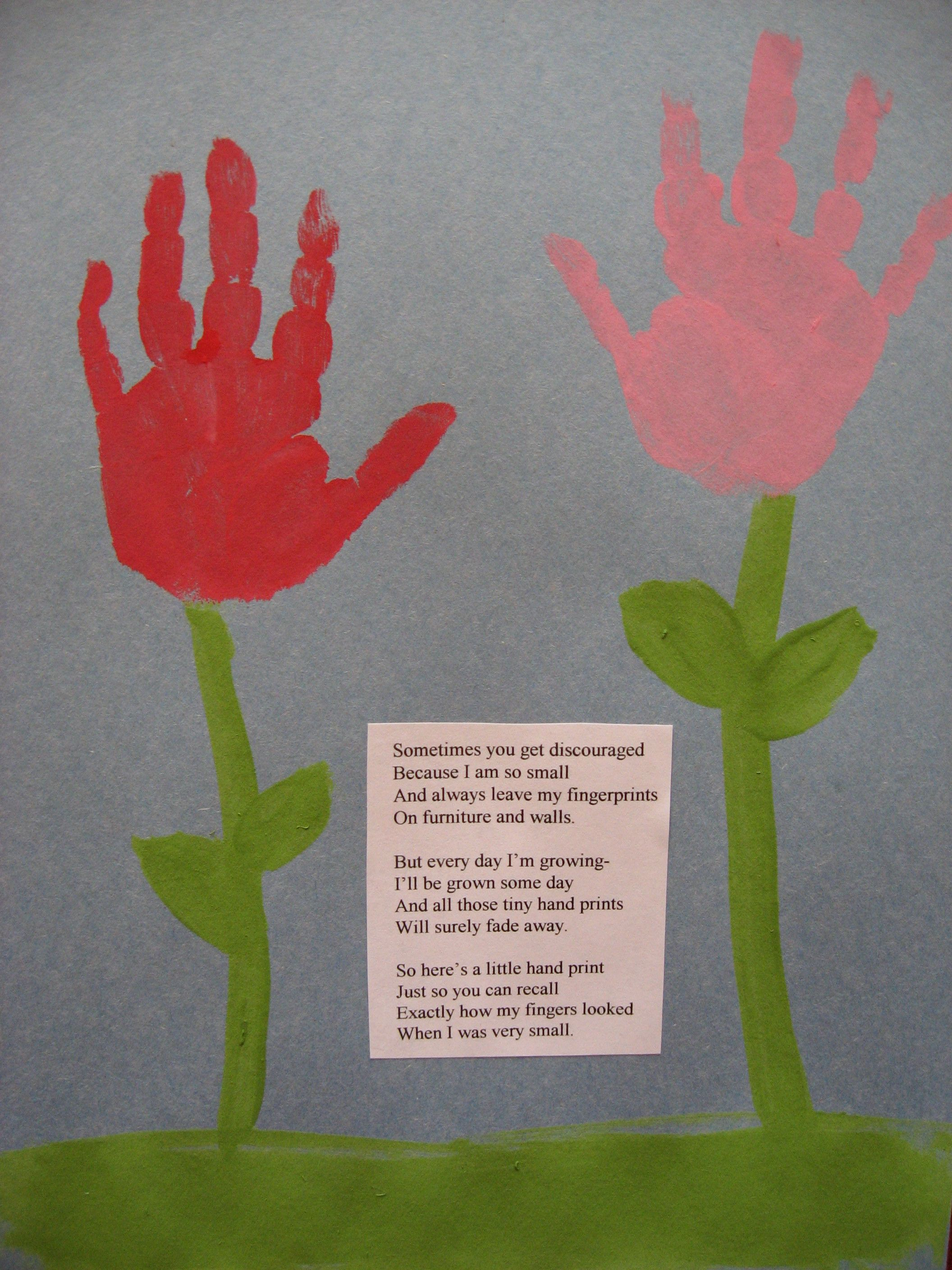 Mother's Day Poem with flowers for Mommy   Speech Language ...