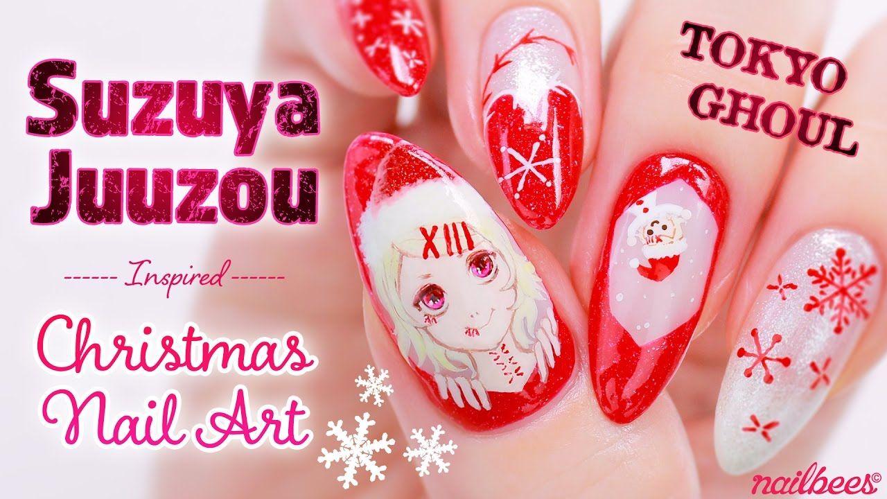 ♡ Tokyo Ghoul Juuzou Suzuya Inspired Nail Art ♡   Nail Art Videos ...