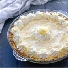 Lemony and sweet, this refreshing low carb lemon pie recipe is easy to make and perfect for any summer party! Keto, Atkins, Sugar Free, and Gluten Free!