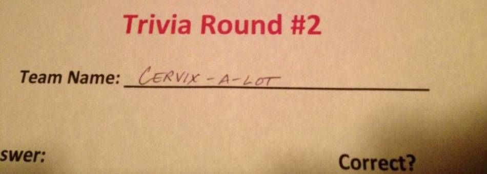 Picking a funny trivia team name can often make or break a