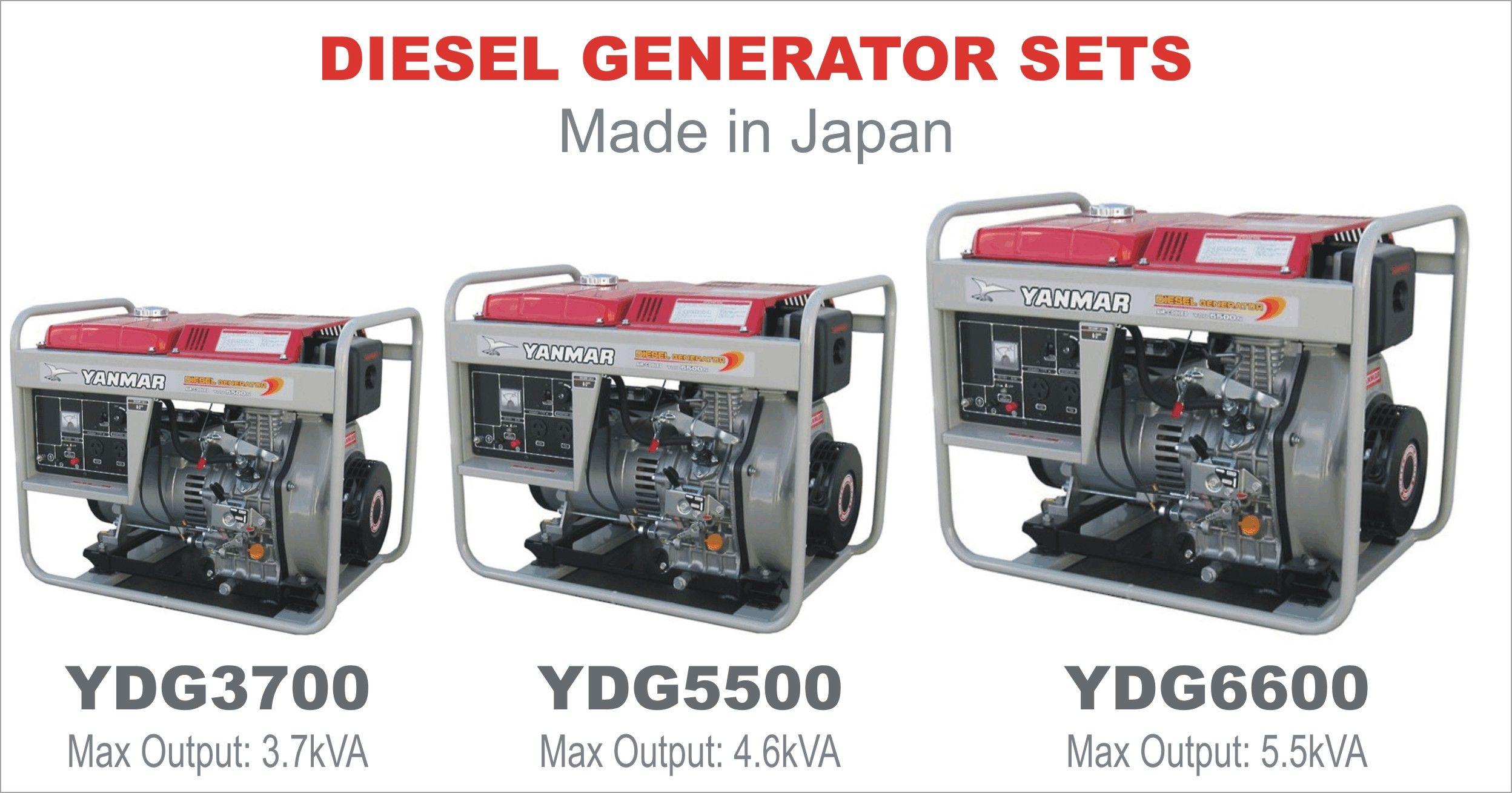 Yanmar brand, Made in Japan Diesel Generator sets