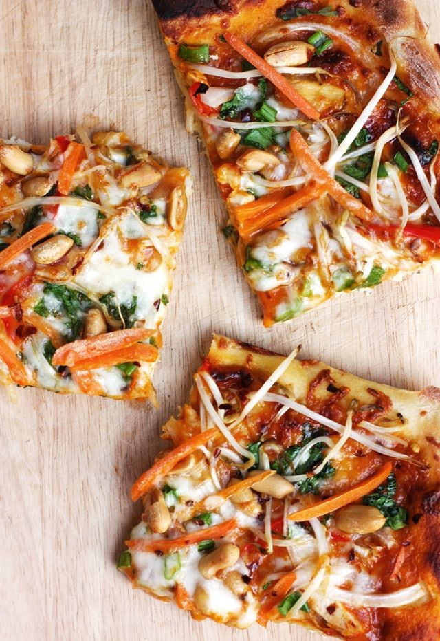 Photo of Curry Hummus Naan Pizza with Coconut Shrimp – (Free Recipe below)