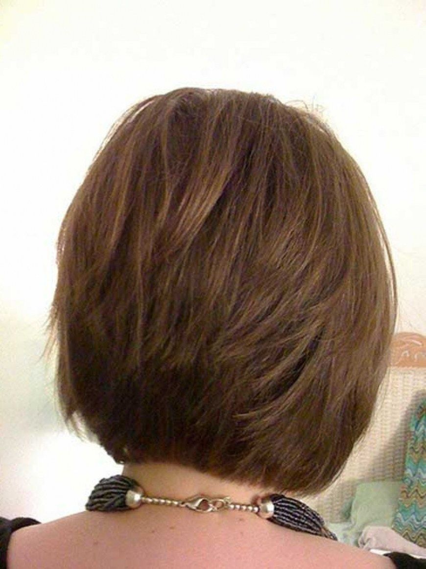 Layered Short Hairstyles Back View  Bob haircut back view, Bob