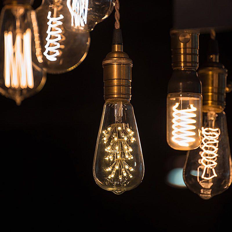 Led Fireworks Bulb St18 Decorative Dimmable Vintage Light Bulbs