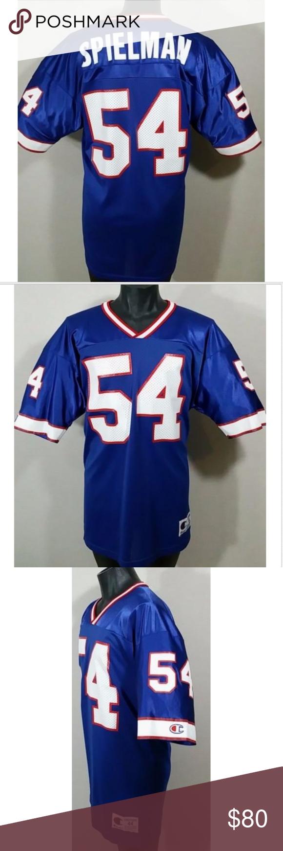 f3048373d 90s Buffalo Bills Chris Spielman Football Jersey